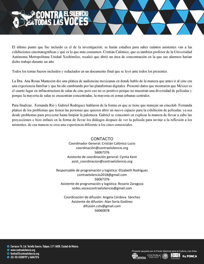 1er. Encuentro Nacional de Espacios Alternativos de Exhibición Cinematográfica 2